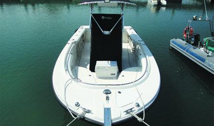 la perfetta barca da pesca parte prima i center consolle