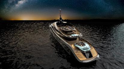Aurea segna l'inizio della collaborazione fra Rossinavi e Pininfarina. L'imbarcazione di 70 metri di lunghezza si caratterizza per un beach club di dimensioni da record per una nave delle sue dimensioni.