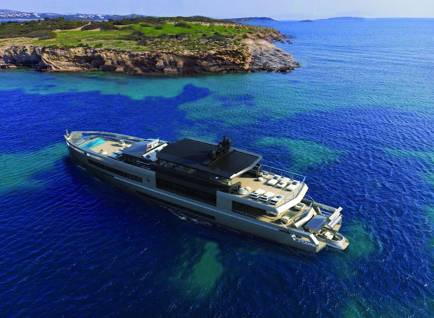 UP40 – Crossover rappresenta una reinterpretazione contemporanea delle barche classiche. Sarà disponibile in due versioni: Open Deck, completamente aperta, ed Enclosed Bridge, con una sovrastruttura che copre una parte dell'Upper Deck