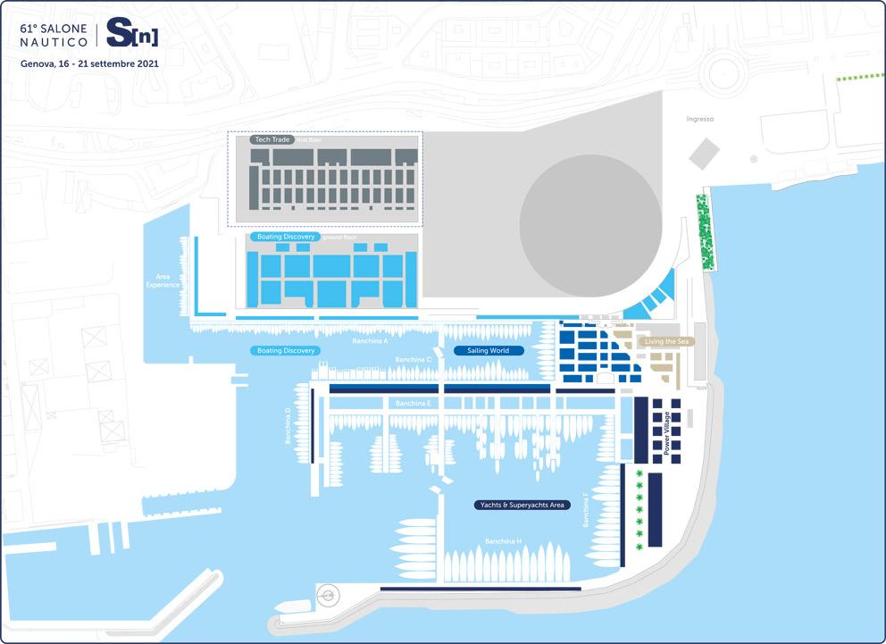 Salone Nautico Genova 2021 Planimetria
